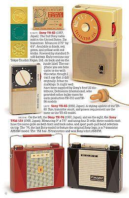 SONY vintage transistor radios book TR-52 TR-55 TR-5 TR-2K TR-33 TR-63 TR-86 TR8 6