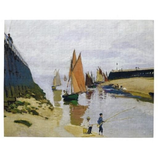 Entrance to the Port of Trouville Claude Monet Puzzle