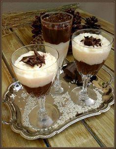 Βουτυρόμελο: Ρυζόγαλο δίχρωμο με σοκολάτα