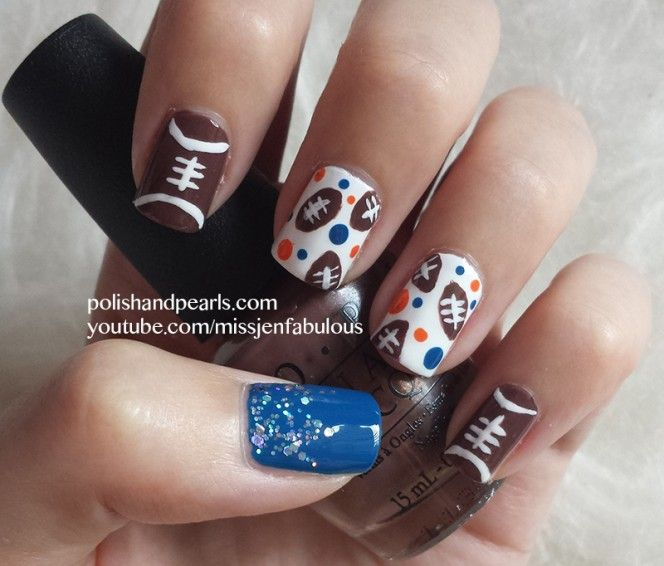 Super Bowl Nail Art - Best 25+ Football Nail Designs Ideas On Pinterest Football Nails