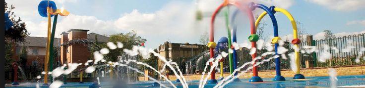 Water Play at Kensington Memorial Park.