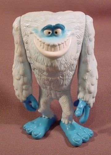 """Disney Monsters Inc 2001 Abominable Snowman Yeti Figure, 4 3/4"""" Tall - RONS RESCUED TREASURES"""