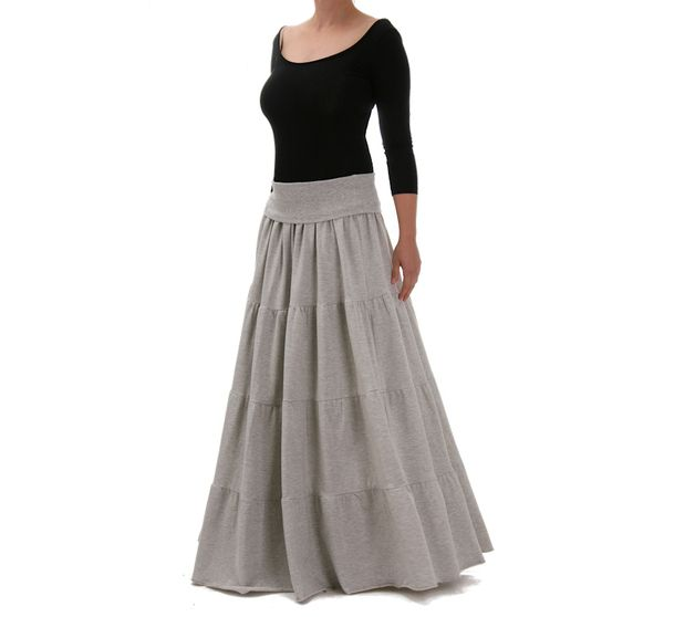 Valery - jersey maxi skirt from Freeshion