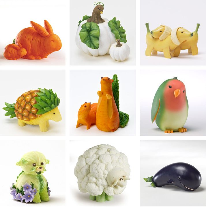 Fruit and vegetable animals nummies in pinterest