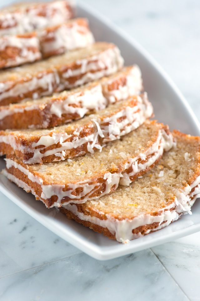 Orange Coconut Bread -Absolutely packed with shredded coconut and fresh orange zest.