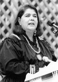 Wilma Mankiller, first female in modern history to lead a major Native American tribe as chief of the Cherokee Nation