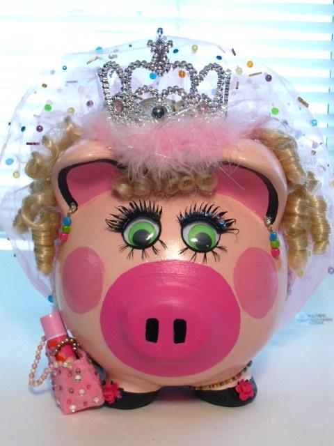 Princess Bayley Ceramic Piggy Bank by TriciaJewelryArmoire on Etsy, $35.00