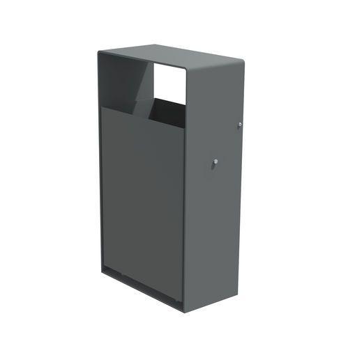 Public trash can / built-in / roto-molded / steel Ufo LARUS DESIGN