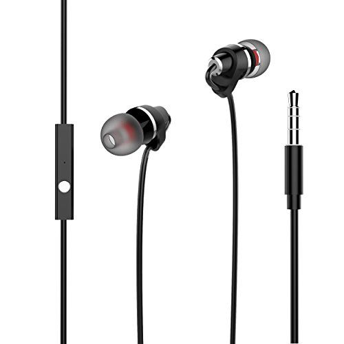 USTEK Headphones with Mic In Line Control Premium Earphones, Stereo Headphones In-ear Weird Earbuds with Ergonomic Design Black - 【Technical Parameters】 ▲Frequency Response: 20Hz-20kHz ▲Plug Diameter: 3.5mm ▲Color: Black 【Package Includes】 ▲1*Earphones; ▲6*Ear Tips; ▲1 Cable Clip; ▲1*Manual 【Warranty】 ▲We provide customer with ...