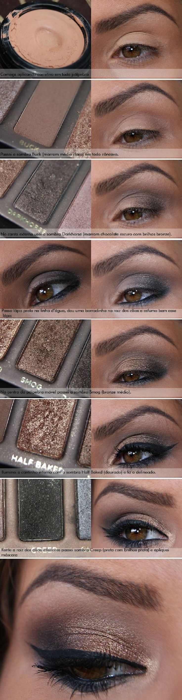 Best Ideas For Makeup Tutorials    Picture    Description  Naked 1 has to be one of my fav palettes. 10 Brown Eyeshadow Tutorials for…    - #Makeup https://glamfashion.net/beauty/make-up/best-ideas-for-makeup-tutorials-naked-1-has-to-be-one-of-my-fav-palettes-10-brown-eyeshadow-tutorials-for-3/