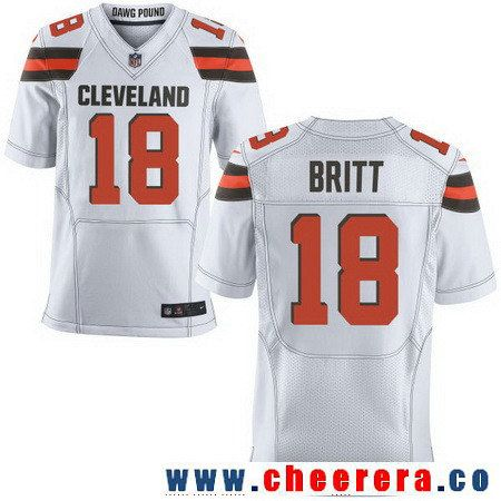 2450f6b08 ... where to buy mens cleveland browns 18 kenny britt white road stitched nfl  nike elite jersey