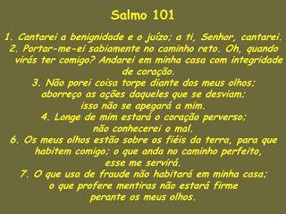 Palavra Eficaz : Primeiro Deus - Salmos 101