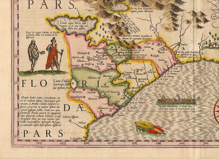 Hondius Southeast 7. Древние карты мира в высоком разрешении - Старинные карты