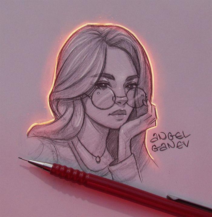 Zeichnungen und Licht von Angel Ganev Design Zeichnung