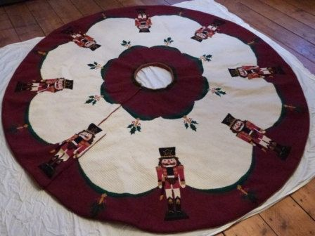 Custom Christmas Tree Skirt 86 Diameter by thepointedarch on Etsy