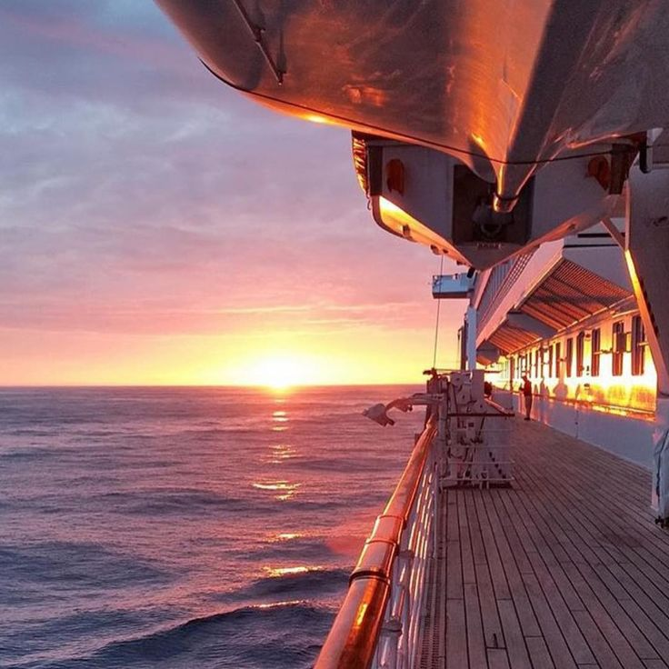 """Love a cruise sunset.  Photo from Crystal Cruises.  #cruiseship #sunset #crystalcruises"""