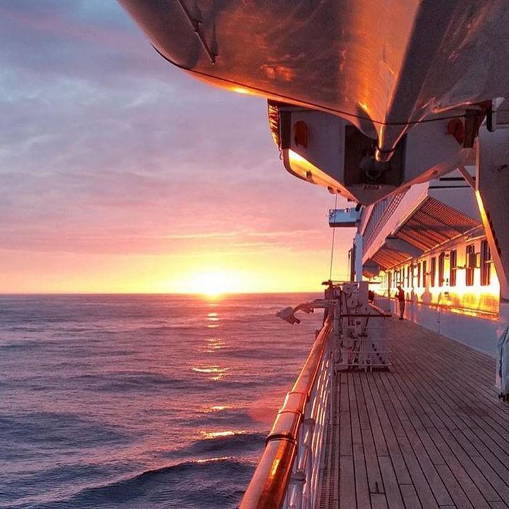 """""""Love a cruise sunset.  Photo from Crystal Cruises.  #cruiseship #sunset #crystalcruises"""""""