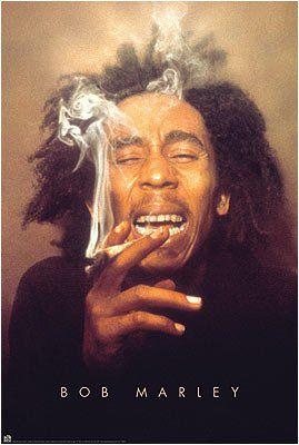 BOB MARLEY POSTER - SMOKING POT - Reggae Jamaica 24X36
