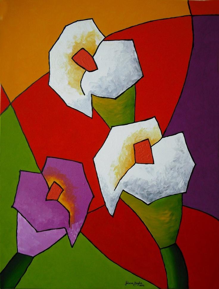 Série Recortes Florais  Acrílica Sobre Tela  80 x 60  Aceito encomendas em outras medidas.  Pintura nas laterais da tela, sem necessidade de moldura....