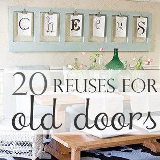 20 Diy:: Salvaged Door Projects