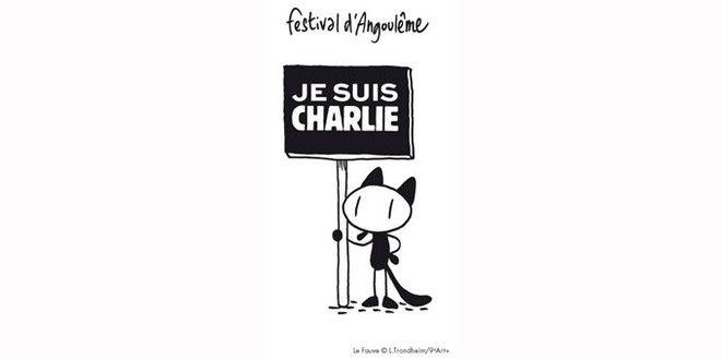 """La mascotte """"du festival d'Angoulême est Charlie elle aussi."""
