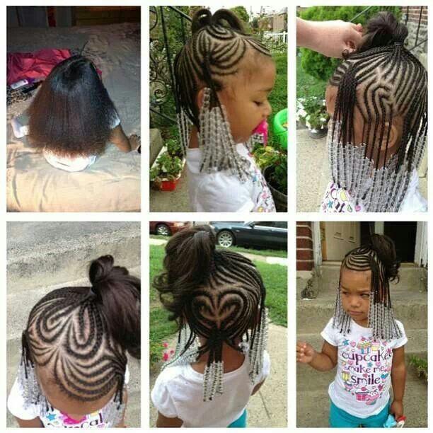 Too Cute Heart Braid Design On Natural Hair Natural Kids