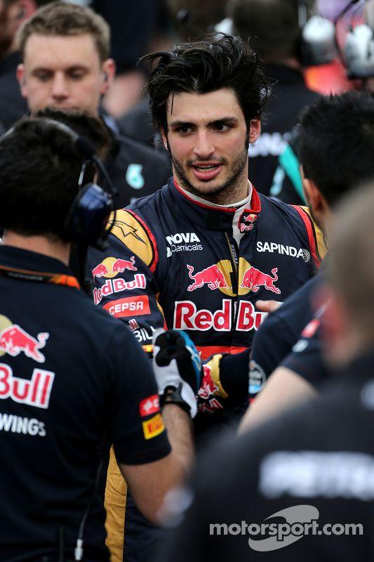 Carlos Sainz Jr., Scuderia Toro Rosso nice job qualifying 8th in his debut Grand Prix.
