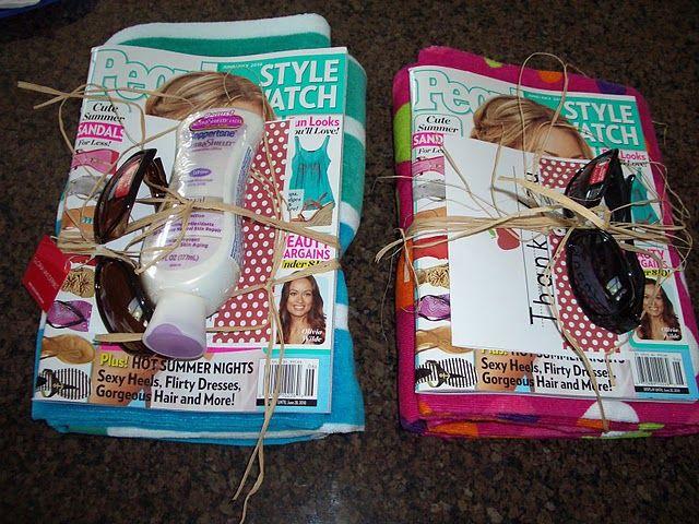 Cute Summer Gift Set: quick friend birthday gift, thank you present, teacher present