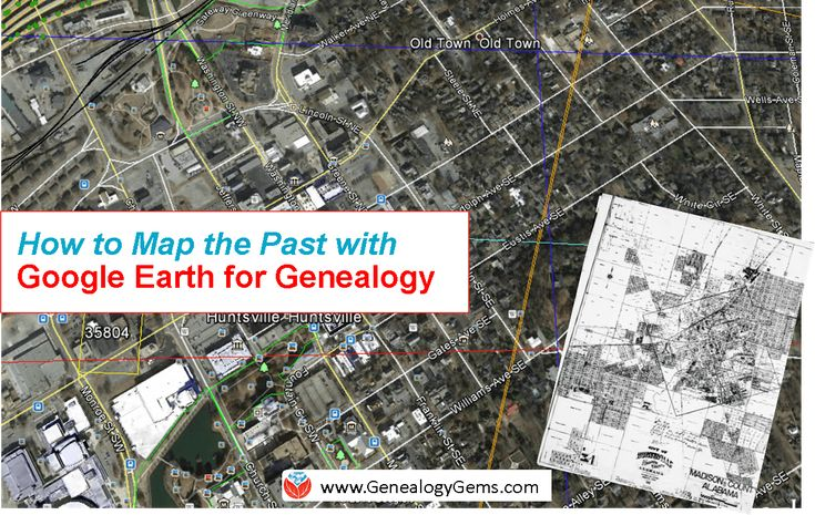 Use Google Earth for genealogy: to find long-lost family locations on modern maps. Here's how!
