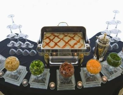 Mashed Potato Bar. I went to a Christmas party and they did something similar to this. Love this idea.