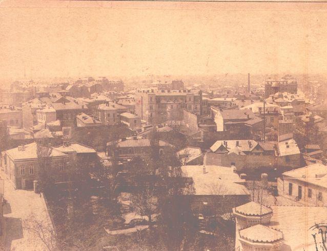 Edward Pesky.Vedere generală din Turnul Colţei 1887