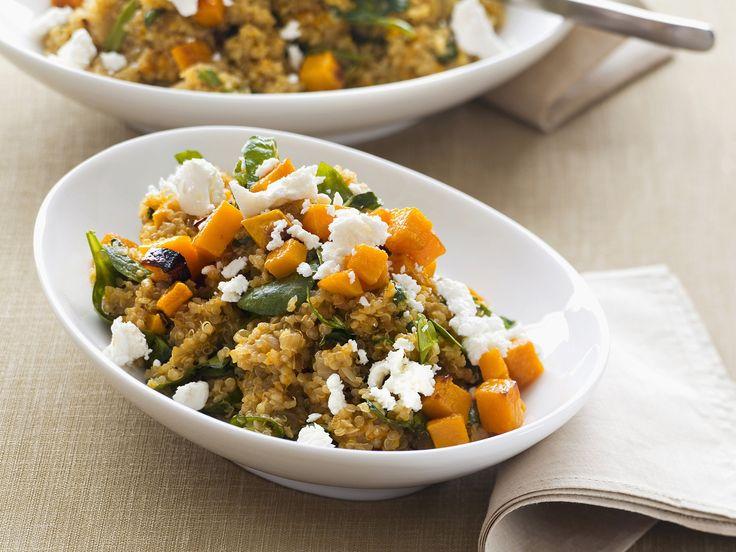 Warm und kalt ein Genuss. Quinoa mit Kürbis und Schafskäse - smarter - Kalorien: 562 Kcal - Zeit: 30 Min. | eatsmarter.de