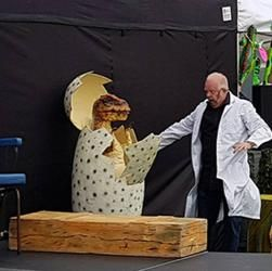 walkabout dinosaur performers available to book for private events in London and the UK