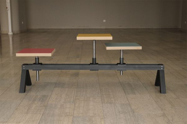 POYKE is a work stool and a three seated bench by Yonder Magnetik
