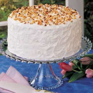 Mother's Walnut Cake Recipe -Even though Mother baked this tall, beautiful cake often when I was growing up, it was a real treat every time. I like the walnuts in the cake and the frosting. Mother frequently used black walnuts from our trees.—Helen Vail, Glenside, Pennsylvania