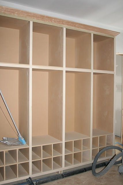 Mud Room - with shoe cubbies...easy do it yourself project
