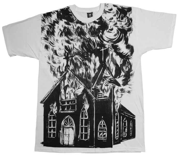 Flying Coffin - 'Church Burner' T-Shirt $29.97