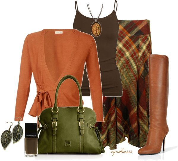 outfits with skirts | Work Fashion Outfits 2012 | Plaid Skirt | Fashionista Trends