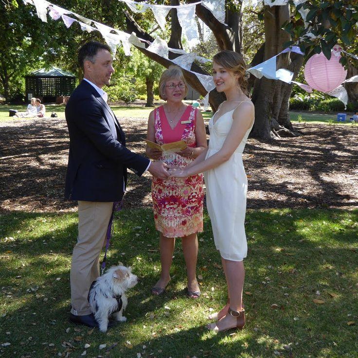 Chris and Kristen in St Kilda Botanical Gardens, Melbourne