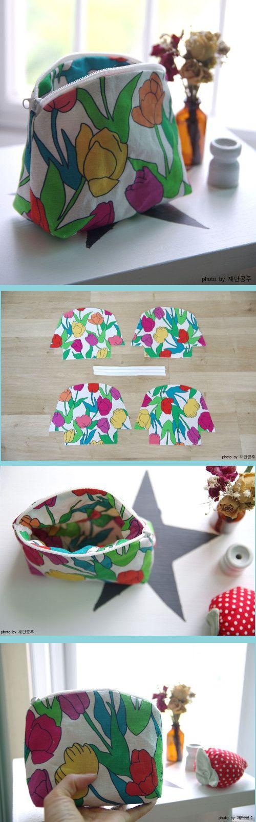 DIY small bag/wallet tutorial step to step. http://fastmade.blogspot.com/2016/12/blog-post.html