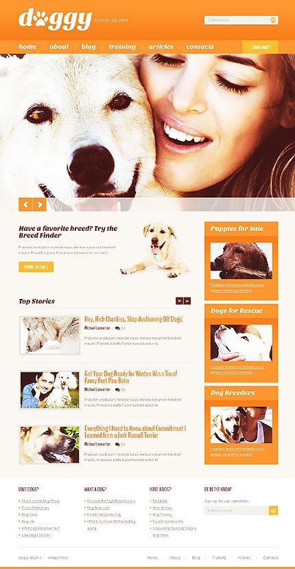 Wordpress 'Dog Lovers' Theme(42069) -  $67