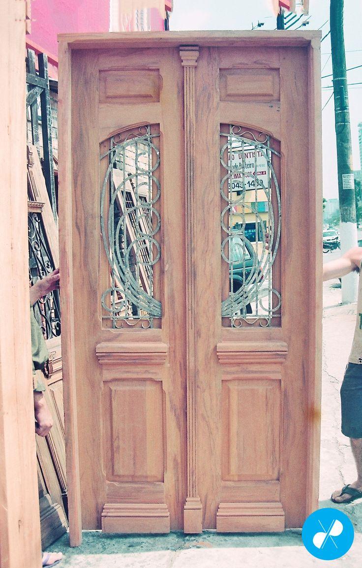 Porta De Duas Folhas Feita Sob Medida Com Madeira De