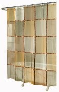 Ex-Cell Home Fashions Mosaic Fabric Shower Curtain, Terracotta:Amazon:Home & Kitchen  $24.99