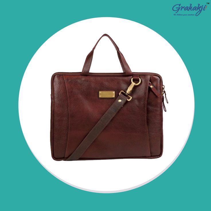 LAPTOP BAG #Leather #bags #online #shopping #grahakji #laptopbags
