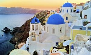 Groupon - ✈ 9-Day Greek Islands Vacation with Airfare. Price per Person Based on Double Occupancy (Buy 1 Groupon/Person). in Athens, Mykonos, Santorini. Groupon deal price: $1,699