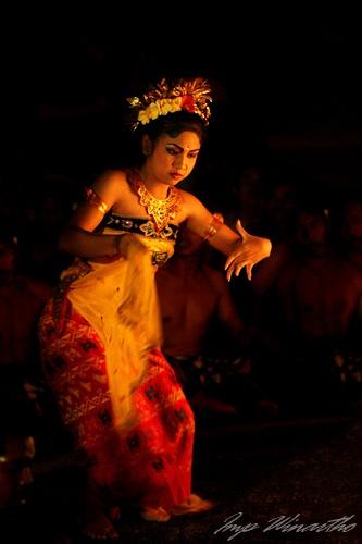 Beautiful balinese dancer