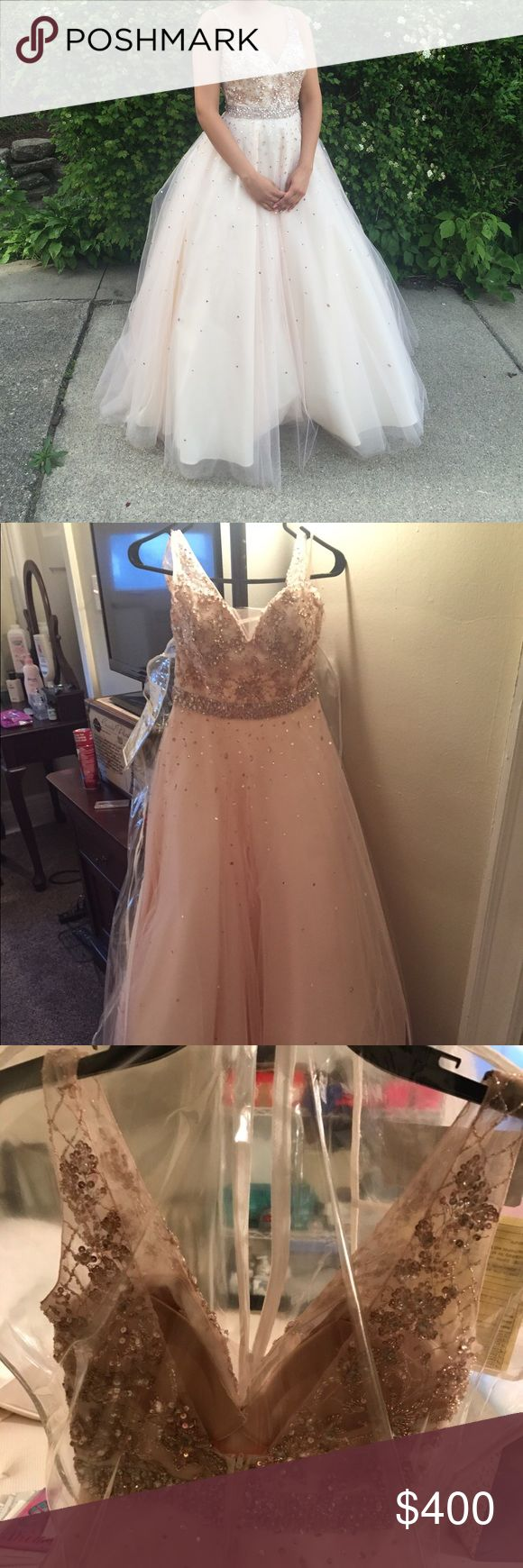 Moro Lee Prom Dress Size 8 Size 8, only wore once, still in plastic zip cover. The beautiful jewels are still in place! No dirt, practically new. Mori Lee Dresses Prom