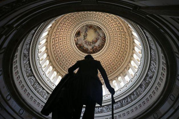 silhouette g. washington us capitol