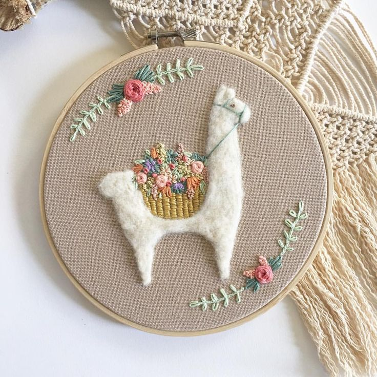 """Becky Tilson (@fuzzyandflora) auf Instagram: """"I'll be posting new llamas thru the weekend. YAY! This one will be available April 1st."""""""