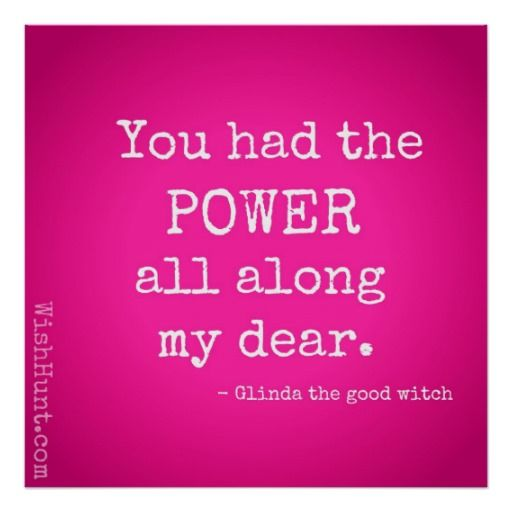 Glinda the Good Witch Quote Poster by WishHunt